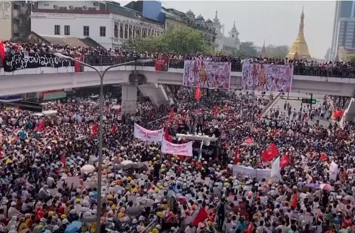 Nine killed in Myanmar as police fire to break up protests