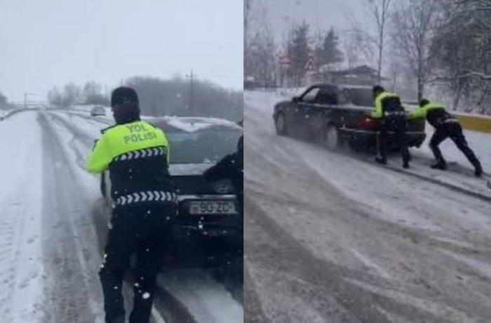 Дорожная полиция рекомендует не выезжать в такую погоду неопытным водителям