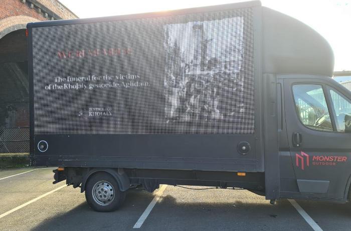 Britaniyada Xocalı faciəsi ilə bağlı aksiya təşkil edilib - FOTO