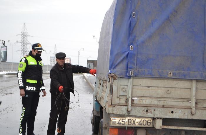 Mingəçevirdə polis gücləndirilmiş iş rejiminə keçib - FOTOLAR