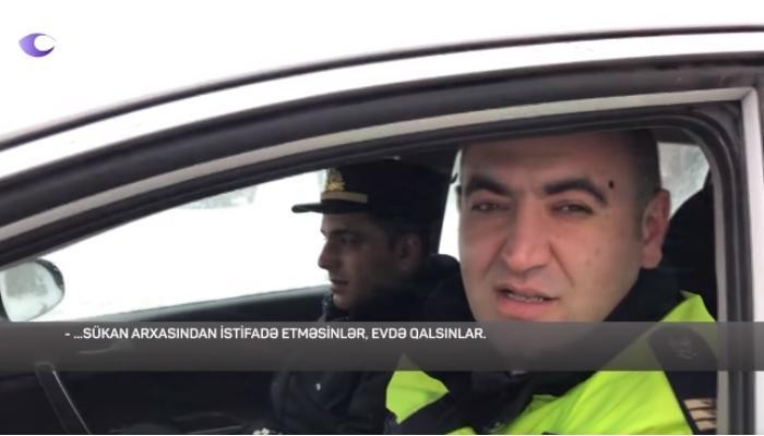 Vətəndaşları cərimələyən polislər bu dəfə özləri qaydanı pozdu – VİDEO