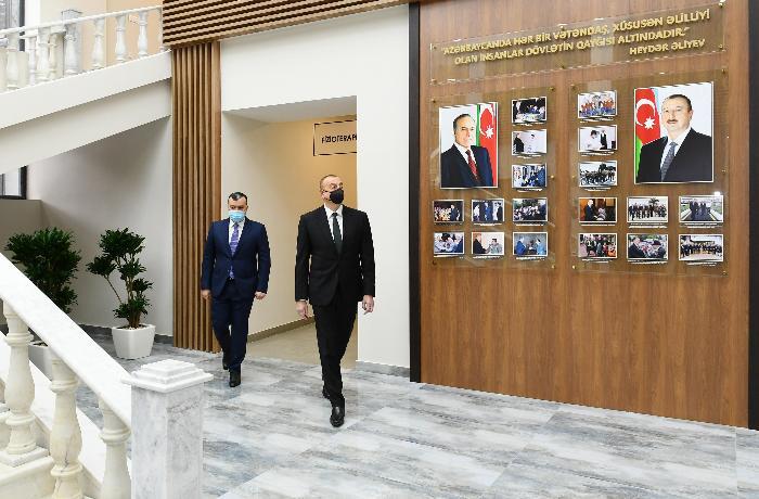 İlham Əliyev Şağan Reabilitasiya Pansionatının açılışında iştirak edib