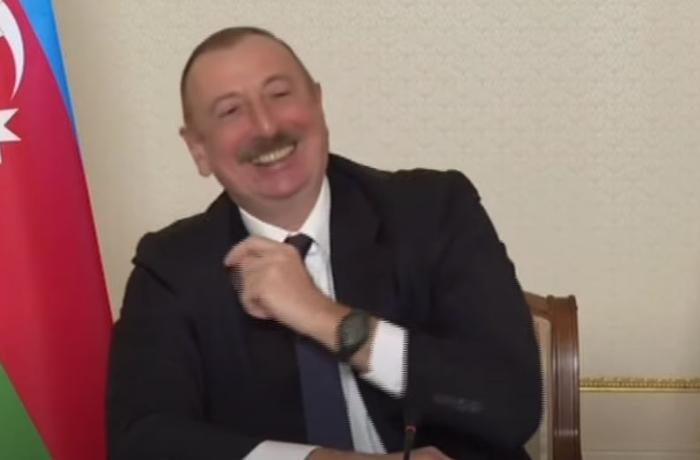 İlham Əliyev mətbuat konfransının sonunda jurnalistlə zarafatlaşdı – VİDEO