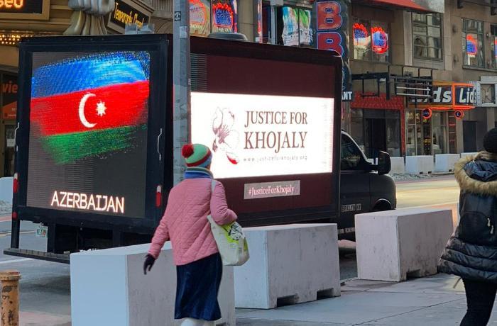 """ABŞ-ın 5 ştatında """"Xocalıya ədalət!"""" aksiyası təşkil edildi - FOTO"""