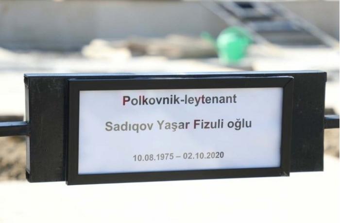 Şəhid polkovnik-leytenant dəfn edildi - FOTO