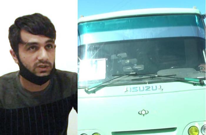 Qarlı havada avtoxuliqanlıq edən avtobus sürücüsü həbs edildi - FOTO