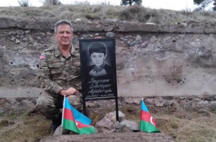 """28 il sonra Qubadlıya gedən Ağalar Bayramov: """"Oğlumun məzarı üstə..."""" –  Fotolar"""