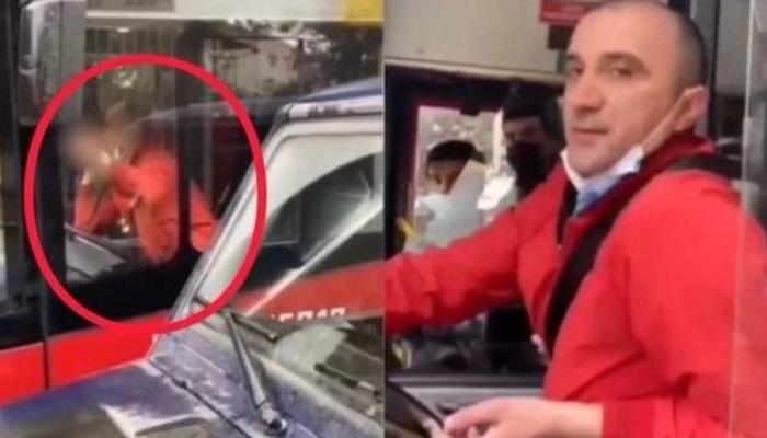 """""""Baku Bus""""ın sürücüsündən vətəndaşa əxlaqsız jest - VİDEO"""