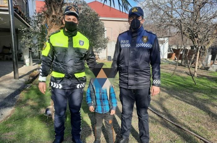 Polislər Balakəndə itkin düşən azyaşlını tapdılar