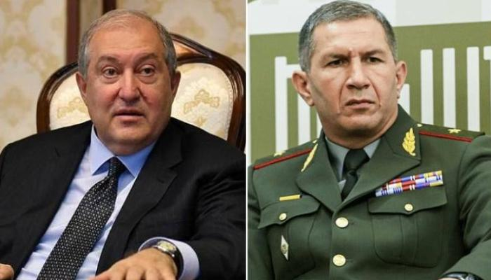 Ermənistan prezidenti Qasparyanla görüşdü