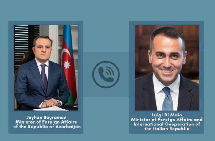 Azərbaycan və İtaliya XİN başçıları telefonla danışıb