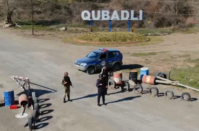 Qubadlıda polis gücləndirilmiş rejimdə işləyir - VİDEO