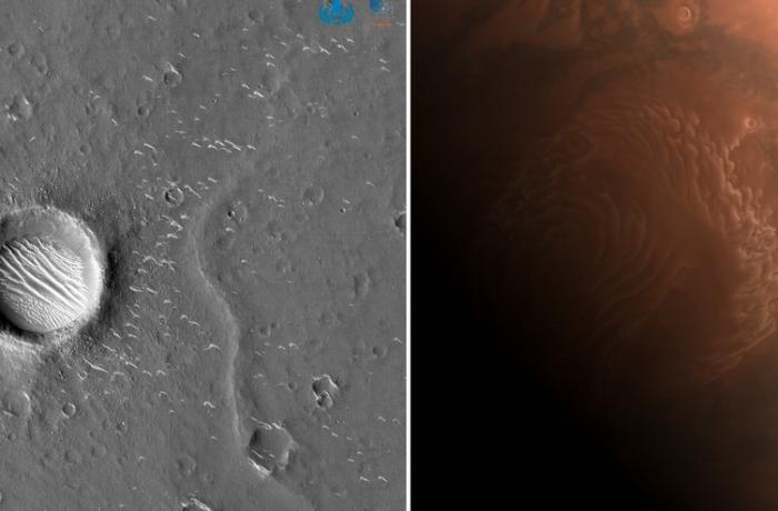 Çin Marsın yeni şəkillərini yaydı - FOTO