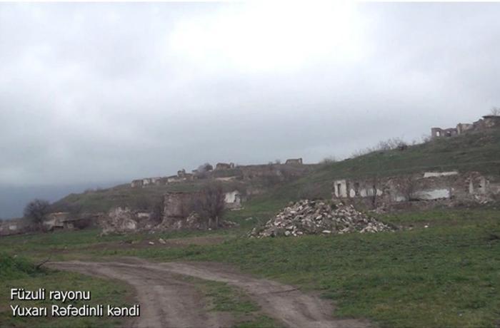 Füzuli rayonunun Yuxarı Rəfədinli kəndi - VİDEO
