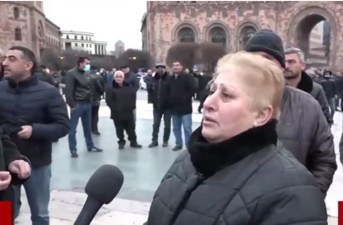 """İrəvanda """"Şuşa azərbaycanlılarındır"""" deyən erməni qadının kim olduğu bilindi  - VİDEO"""