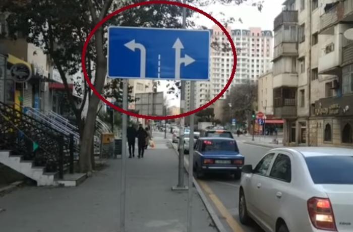 BNA yol nişanını görün hara qoyub - VİDEO