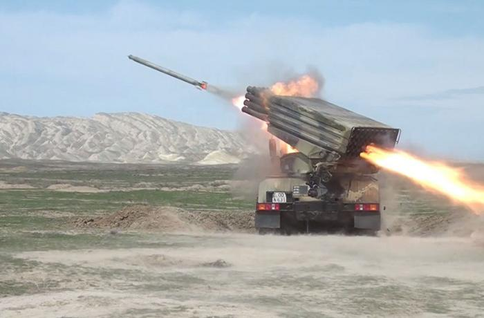 Live-fire tactical exercises of Rocket and artillery batteries of the Azerbaijan Army started - VIDEO