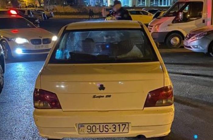 Masazırda piyadanı vuraraq qaçan 21 yaşlı xanım sürücü polislər tərəfindən yaxalanıb - FOTO