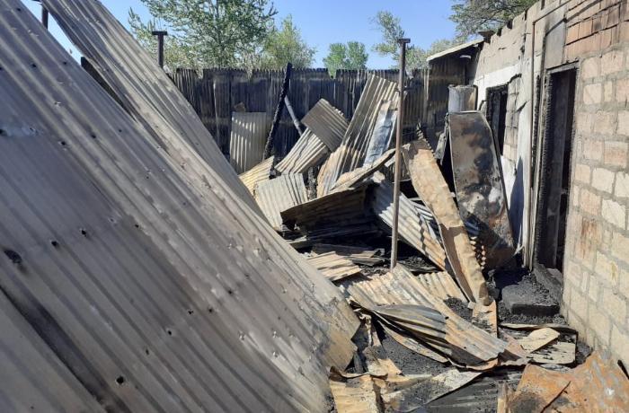 Yevlaxda baş verən yanğında 53 yaşlı qadın ölüb - VİDEO