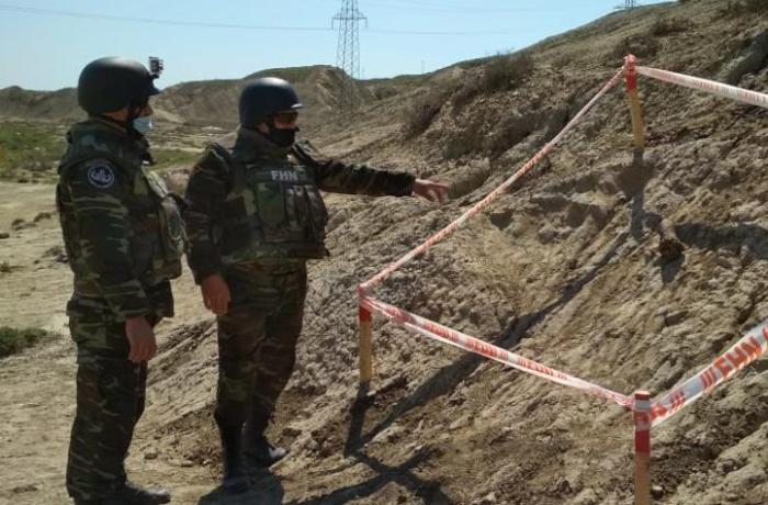 FHN: Qaradağ rayonunda top mərmisi aşkarlanıb - FOTOLAR