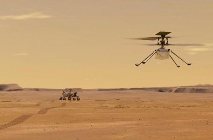 NASA Marsda dron uçuşu həyata keçirib - VİDEO