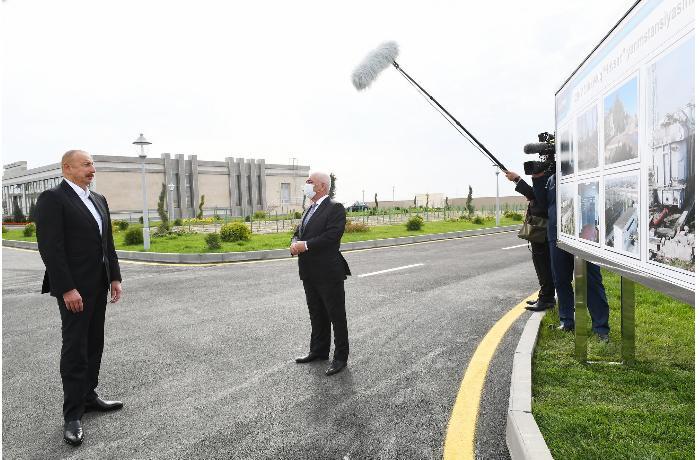 """Prezident """"Hövsan"""" və """"Maştağa"""" yarımstansiyalarının açılışını edib - YENİLƏNİB"""