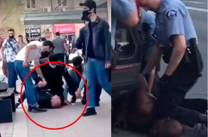 Человек, пытающийся уклониться от штрафа в Баку, вел себя как Джордж Флойд - ВИДЕО + ОФИЦИАЛЬНОЕ ЗАЯВЛЕНИЕ