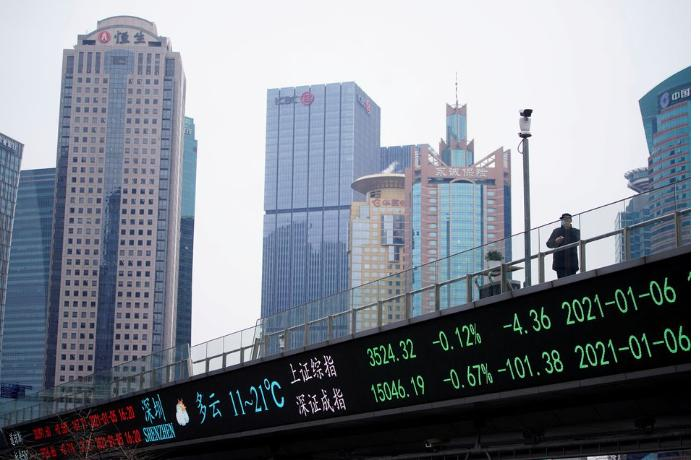 Asian shares up on China gains but tech worries weigh
