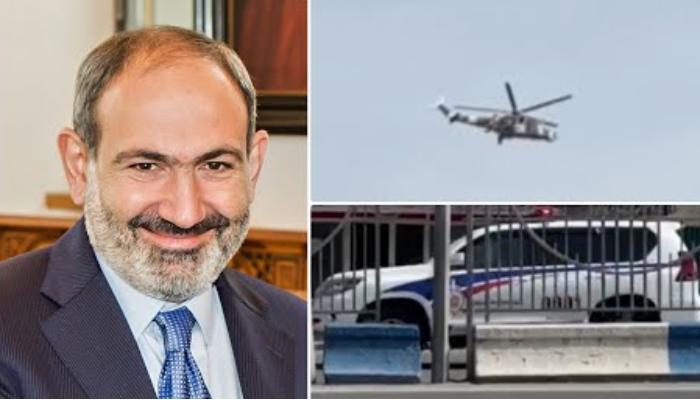 "Paşinyan Moskvaya getdi - Kortejini ""Mi-24"" havadan belə qorudu - VİDEO"