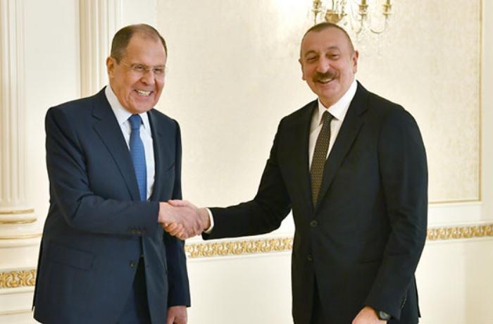 Prezident Lavrovu qəbul edib