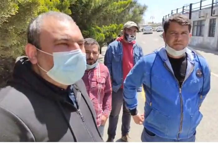 Sürücülər DYP önündə etiraz ediblər - VİDEO
