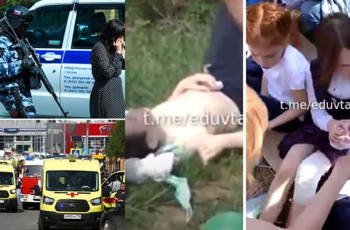 Rusiyada məktəbə silahlı hücum nəticəsində 11 nəfər ölüb - HƏSSAS GÖRÜNTÜLƏR + YENİLƏNİB