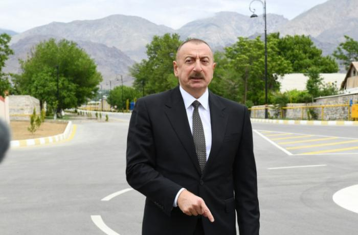 Azerbaijani President: 40-kilometer Zangazur corridor separating Zangilan from Nakhchivan, which must and will be opened