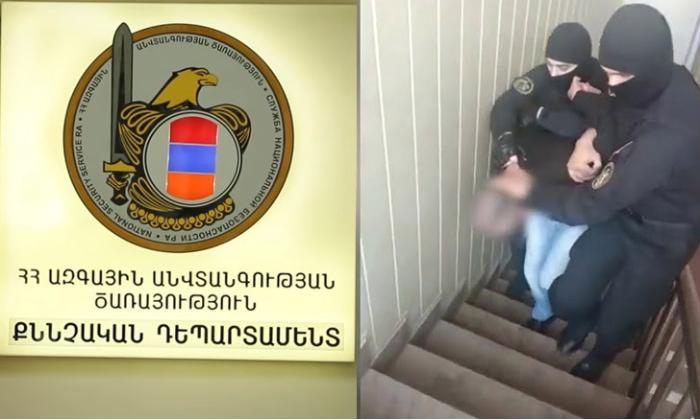Ermənistanda Azərbaycan kəşfiyyatı ilə əməkdaşlıq edən hərbçi saxlanılıb - VİDEO