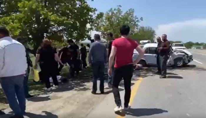 Quba yolunda ağır qəza: Yaralananlar var - VİDEO