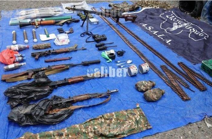 Suqovuşan yaxınlığında ASALA terrorçularının anbarı aşkarlandı - FOTOLAR