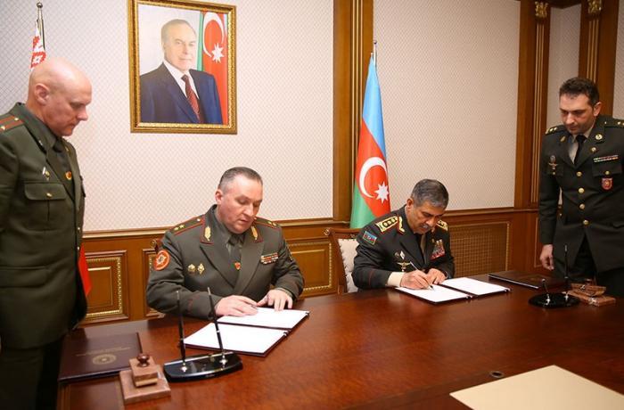 Azərbaycan və Belarus arasında hərbi əməkdaşlığa dair plan imzalanıb - VİDEO
