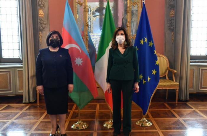 Milli Məclisin sədri Sahibə Qafarova İtaliya Senatının sədri ilə görüşüb