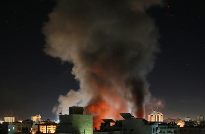 Fələstin Səhiyyə Nazirliyinin binası vuruldu
