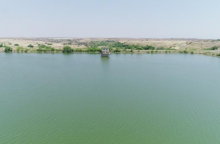 Azərbaycan Prezidenti Aşağı Köndələnçay su anbarında olub