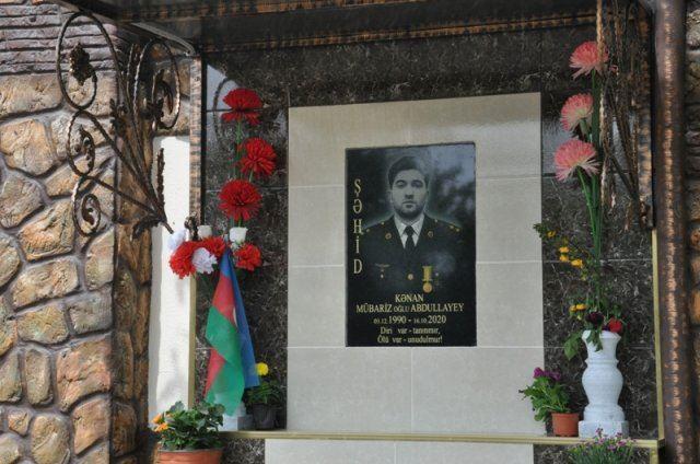 Şəhid Kənan Abdullayevin xatirəsinə inşa edilmiş bulağın açılışı olub – FOTO