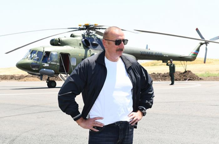 Prezident Füzuli aeroportunda - FOTOLAR