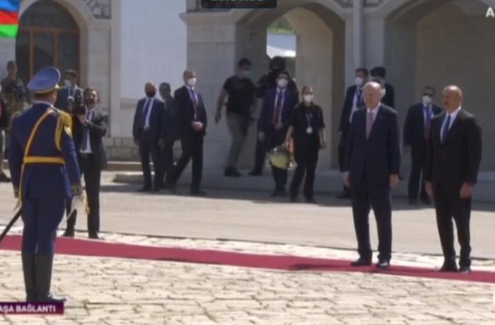 Ильхам Алиев и Реджеп Тайип Эрдоган прибыли в Шушу - ПРЯМОЙ ЭФИР