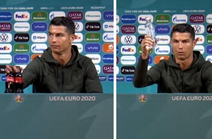 """Ronaldo """"Coca-Cola""""nı 4 milyard dollar zərərə saldı - VİDEO"""