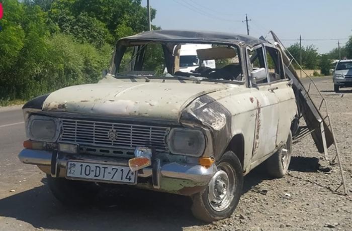 """Bərdədə """"Moskviç"""" aşdı, 25 yaşlı qadın öldü"""