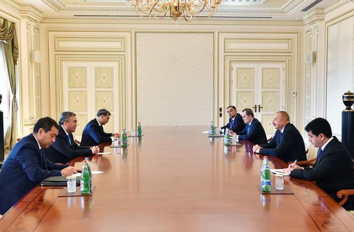 İlham Əliyev Qazaxıstanın Baş nazirinin müavinini qəbul edib – YENİLƏNİB