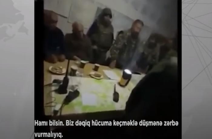 Şuşa əməliyyatından az əvvəl ermənilər bunkerdə nəyi müzakirə ediblər? - VİDEO