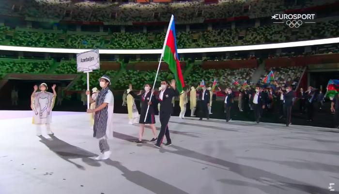 Tokio-2020: Azərbaycan nümayəndə heyəti paraddan keçdi - CANLI + YENİLƏNİB