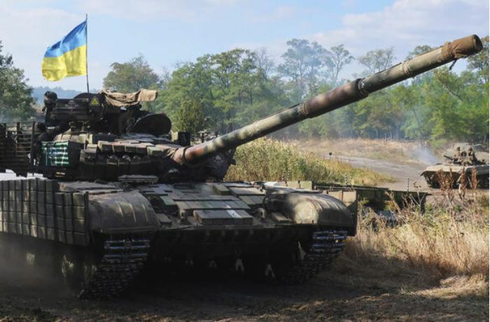 Ukraynada tank səhvən kəndi vurdu