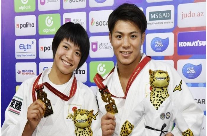 Üç il əvvəl Bakıda qalib gələn bacı-qardaş bu dəfə Yaponiyada olimpiya çempionu oldular